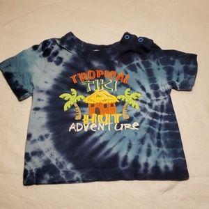 Children's plays tiki tie dyed T-shirt